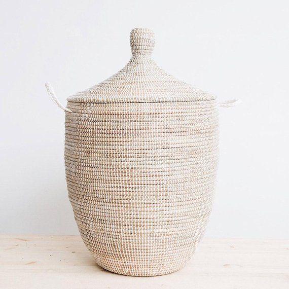 5926b3d4cbc8 Woven Basket Storage Hamper | Products | Large storage baskets ...