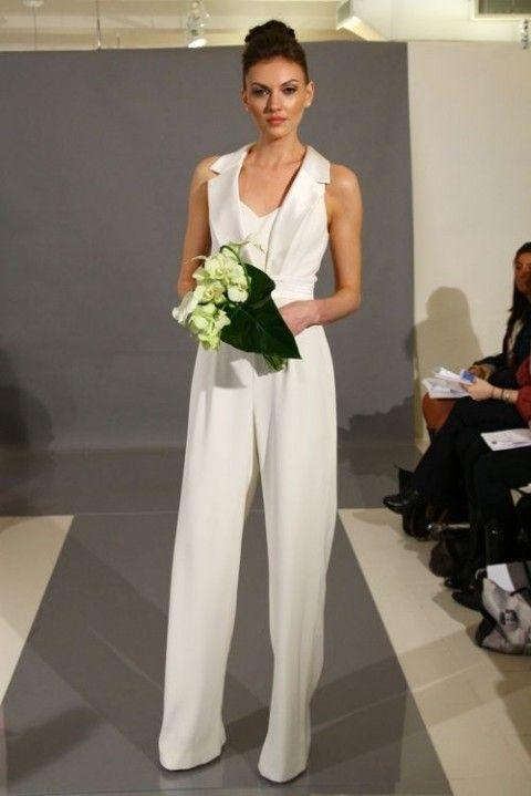 2014 Wedding Trend: 53 Elegant Bridal Pantsuits | HappyWedd.com ...