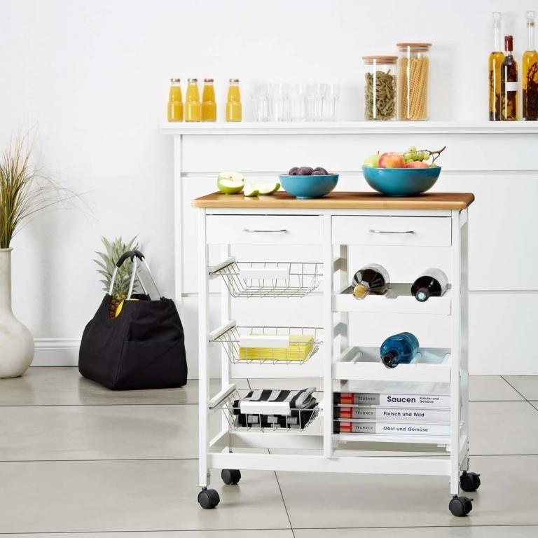 Nw26 Wozek Kuchenny Pomocnik Barek Na Kolkach Kitchen Cart Home Decor Decor