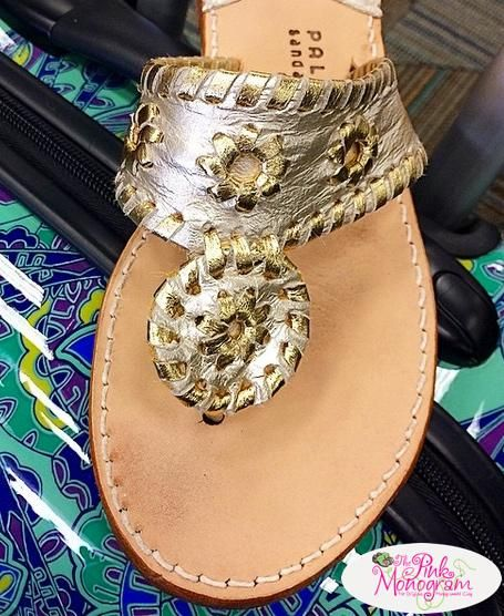 aafb6351740d2 Platinum and gold classic Palm Beach Sandals.A staple in you closet. Goes  with everything! www.thepinkmonogram.com