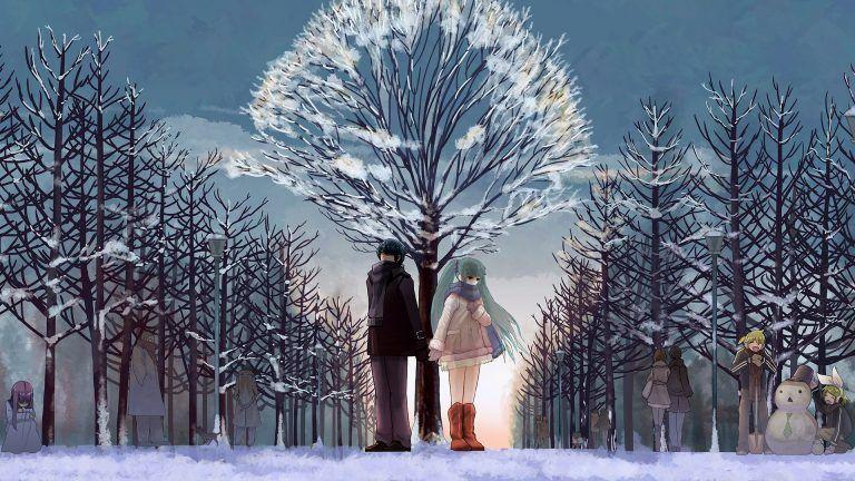 Hd Winter Love Wallpaper Anime Snow Snow Wallpaper Hd Winter
