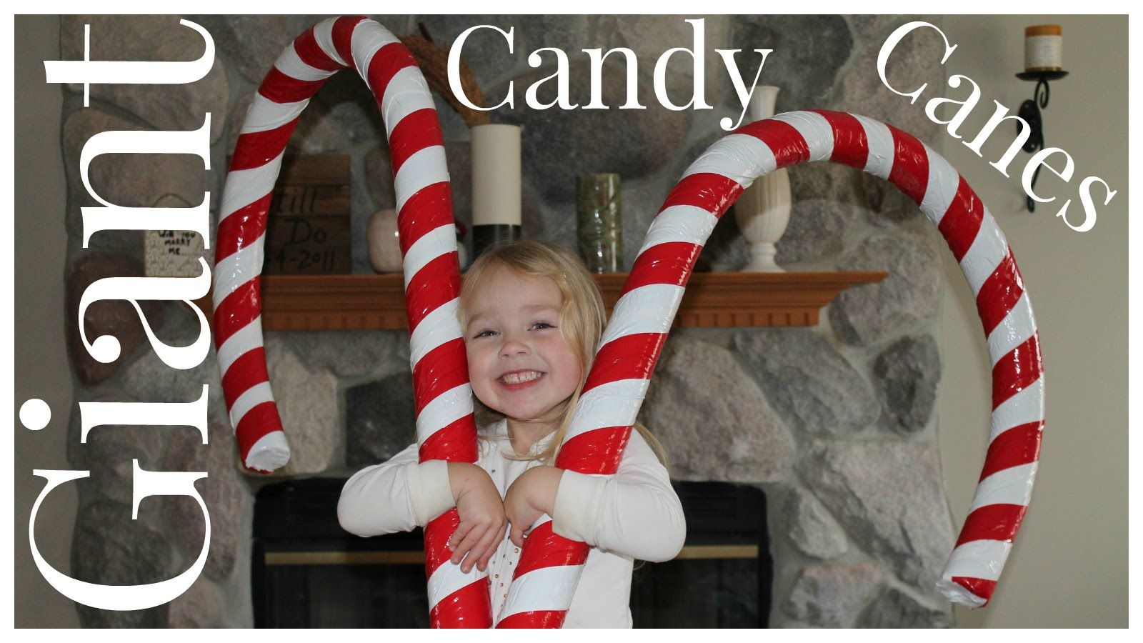 Large Candy Cane Decorations How To Make Giant Candy Cane Decorations  ☃ Christmas Crafts