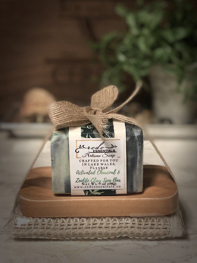 Activated charcoal zeolite clay spa soap gift set soap
