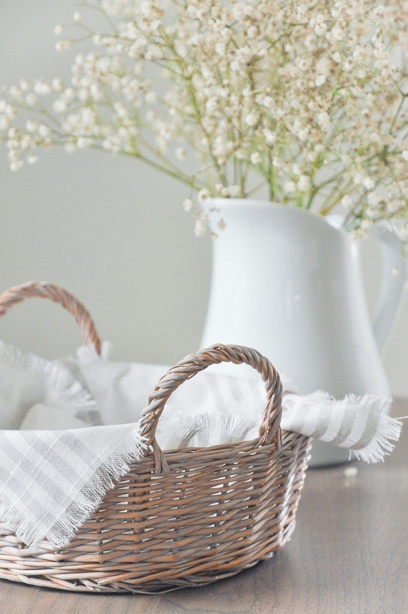 Diy french country style napkin holder with thrifted