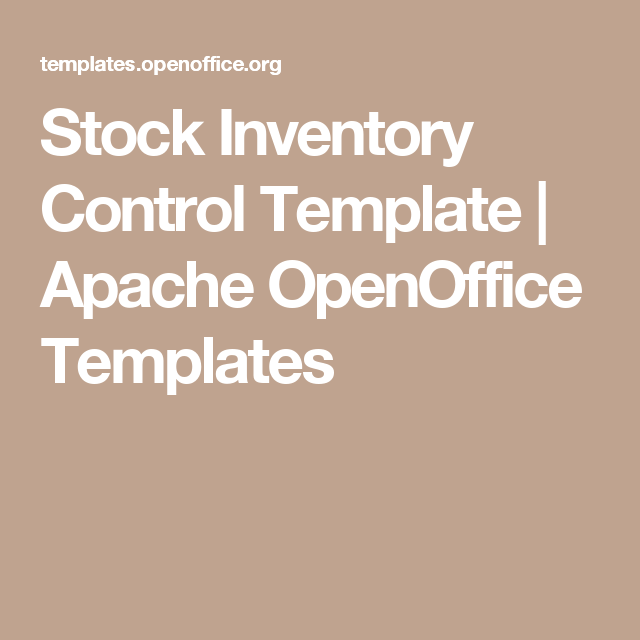 Stock Inventory Control Template  Apache Openoffice Templates