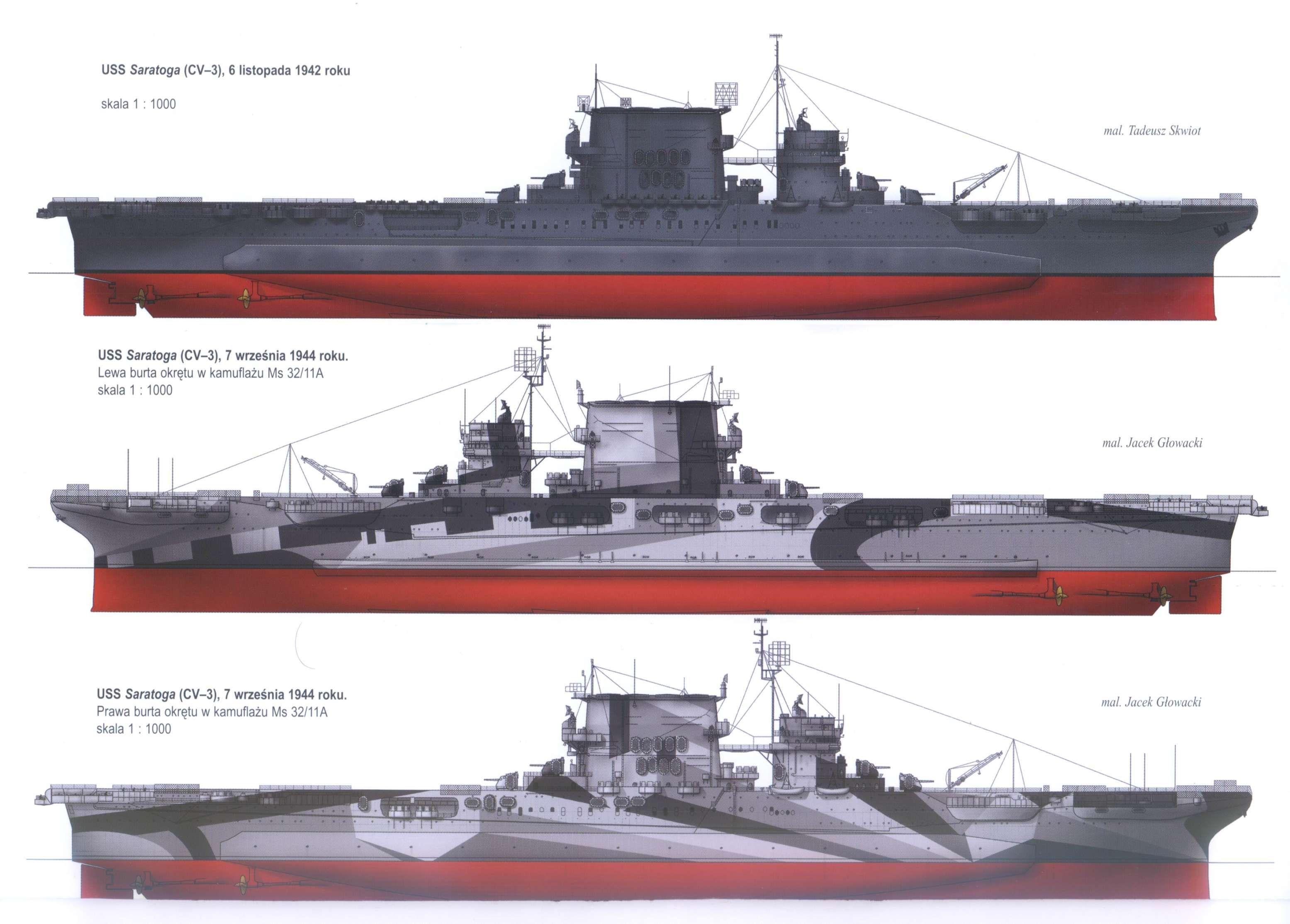 USS Saratoga (CV-3) Lexington-class US Navy aircraft carrier ...