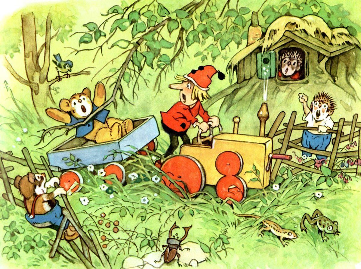 Fritz baumgarten german 1883 1966 teddy und kasperle for Baum garten