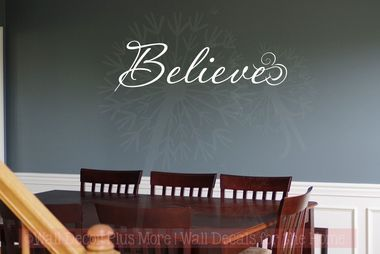 Believe Wall Art Wall Decal Stickers Christian Vinyl Lettering