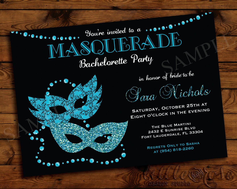 Masquerade Bachelorette Party Invitation by LittleRoseStudio, $12.00 ...