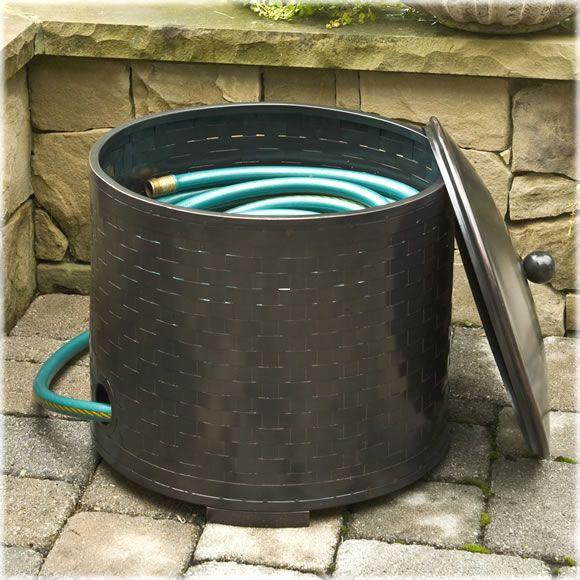 garden hose storage pot. decorative garden hose holders, pots \u0026 storage containers pot