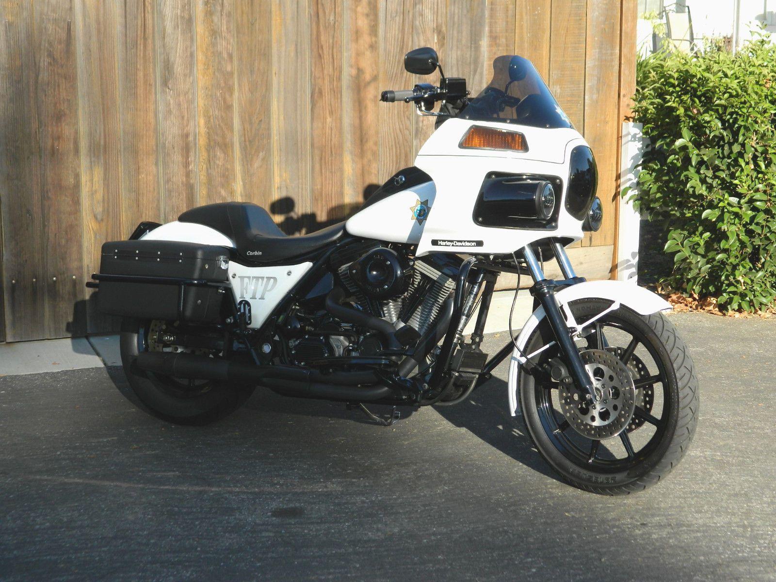 Ebay 1988 Harley Davidson Fxr Harley Davidson Police Fxrp Harleydavidson Harley Davidson Harley Touring Bike
