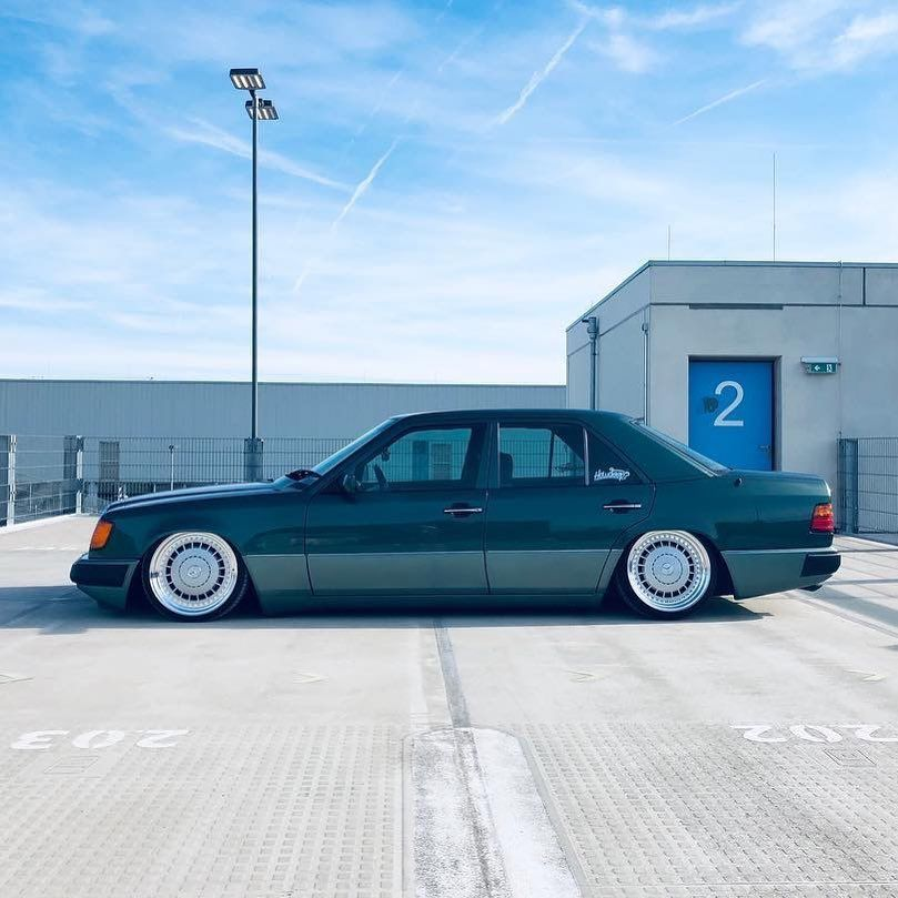 How Low Can You Go Mercedes Benz W124 Stanced Mercedes W124 Mercedes Benz World Slammed Cars
