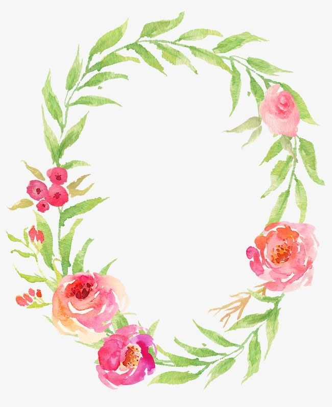 Drawing Circular Wreath 19 Watercolor Flower Oval Png