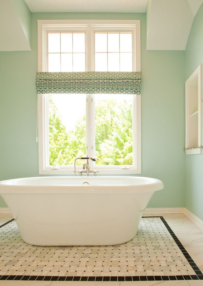 Luxury dreamy shade of turquoise on the wall Sherwin Williams Tradewind House of Turquoise blog Pictures - Unique relaxing bathroom colors