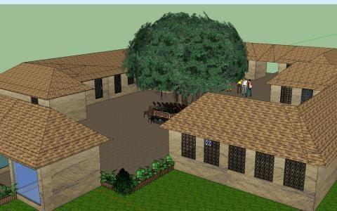 Patio Design Simple 3D SKP Model for SketchUp in 2020 ...