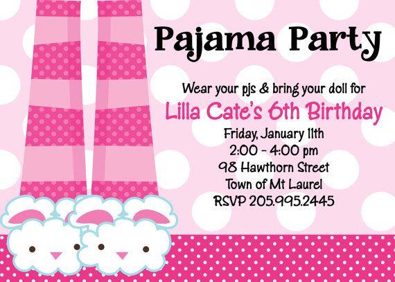 Pajama party birthday invitation printable or printed spa party bunny slippers pajama party birthday invitation printable or printed on etsy 1500 filmwisefo