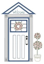 """FREE! Formal Door - """"Welcome Home"""" Block-of-the-Month 