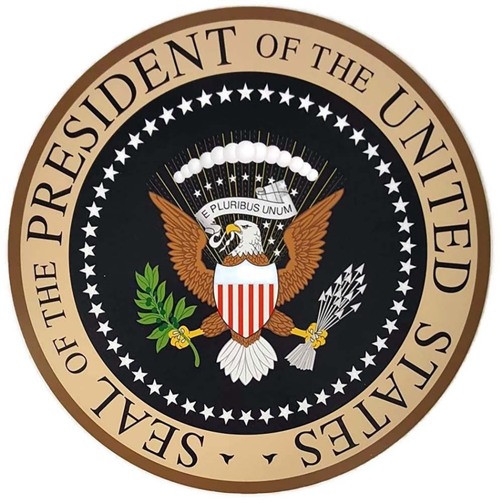 United States Presidential Seal Presidential Seal Fabric Backdrop Plaque
