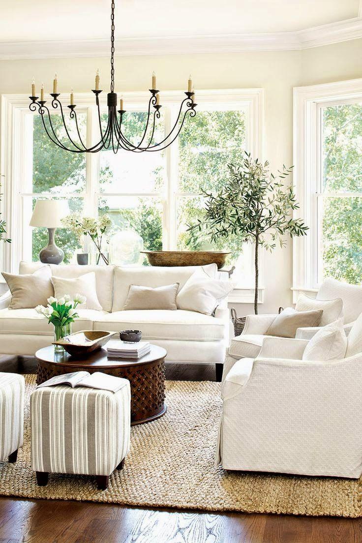 9 fotos de decoración de salas en blanco | Pinterest | Decoracion de ...