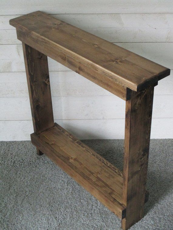 Narrow Console Table Small Side Table Entry Table Wood