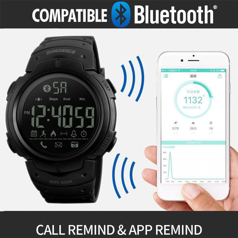 Skmei 1301 Skmei 1301 Bluetooth Skmei 1301 Akilli Saat 1301 Fonksiyonlar Bluetooth Cagri Hatirlatmak Kamera Kontrol Kalori App Hati Bluetooth App Led