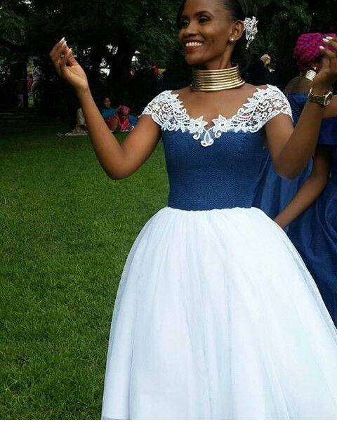 a3eb209ff7e30 Beautiful | I do things.. | African wedding dress, Shweshwe dresses ...