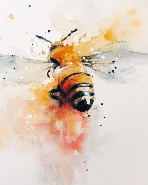 Bee & Beehive Things We LOVE - Watercolor Bee Art