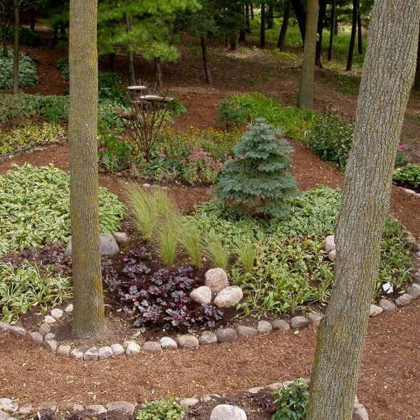Serene backyard no grass no mowing outdoor spaces - Cheap no grass backyard ideas ...