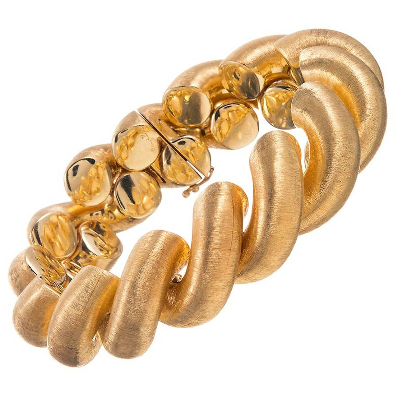 Buccellati twisted gold rope bracelet
