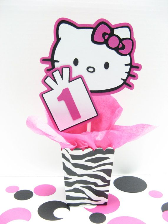 RESERVED for Heather Hello Kitty table decoration Hello kitty
