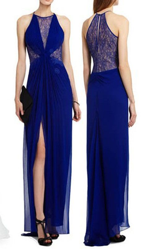 BLUE MAXINE EVENING GOWN BY BCBG [MAXINE EVENING GOWN] - $223.00 ...