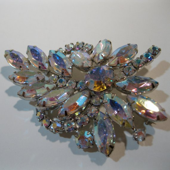 Vintage Weiss Rhinestone Brooch Pin Set Excellent Condition Bridal Jewelry E1 Jewelry & Watches Bridal & Wedding Party Jewelry