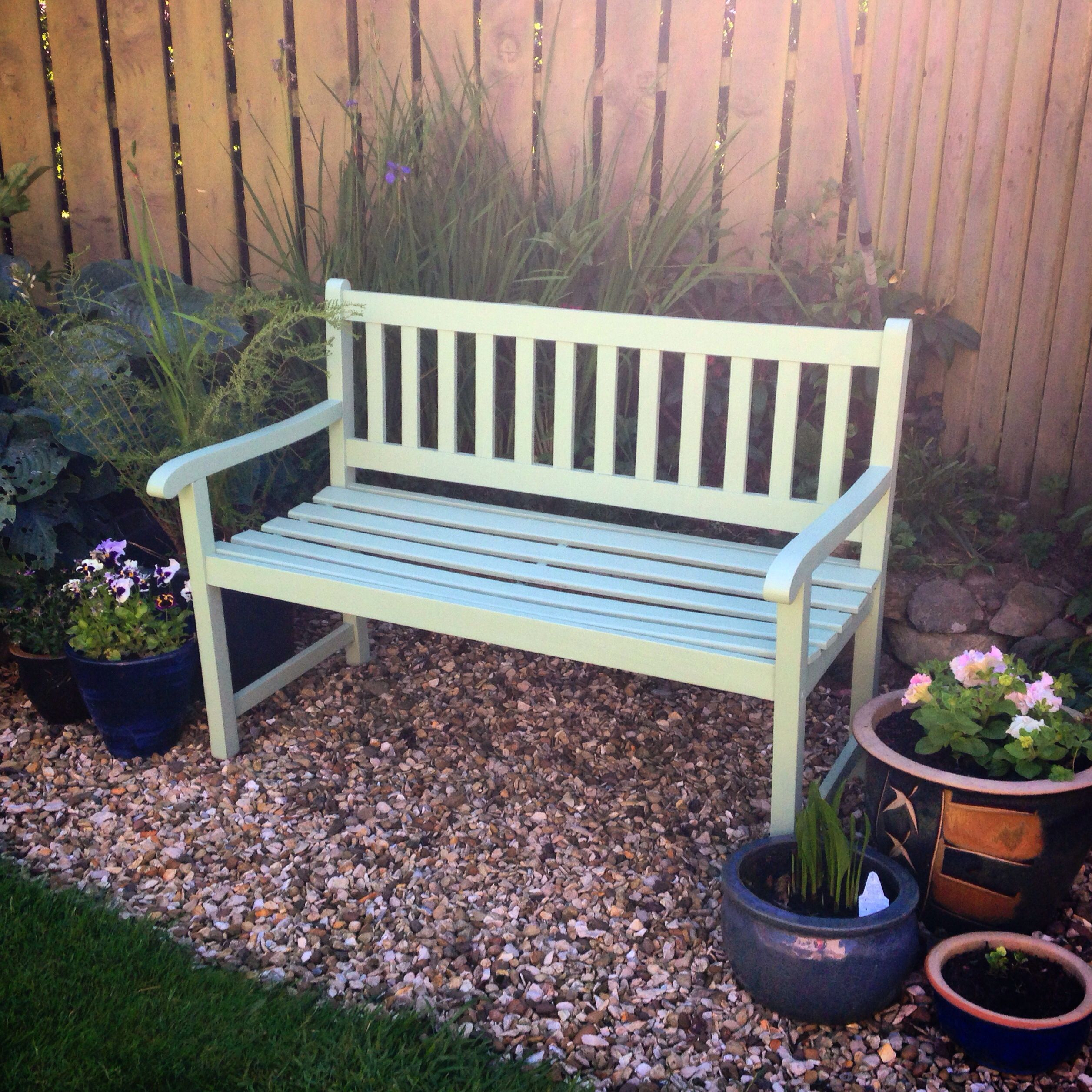 Painted garden furniture Painted with Cuprinols Highland Marsh