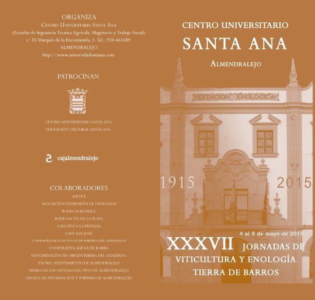 Jornadas de Viticultura y enología Tierra de Barros 2015 #formación #cultura #Almendralejo #Badajoz #Extremadura #vinos