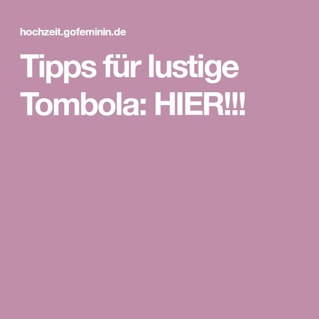 Tipps Für Tombola