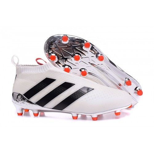 buy online 4359b 9b4a5 2016 Adidas Ace16 Purecontrol FG-AG Football Boots White Black Pink