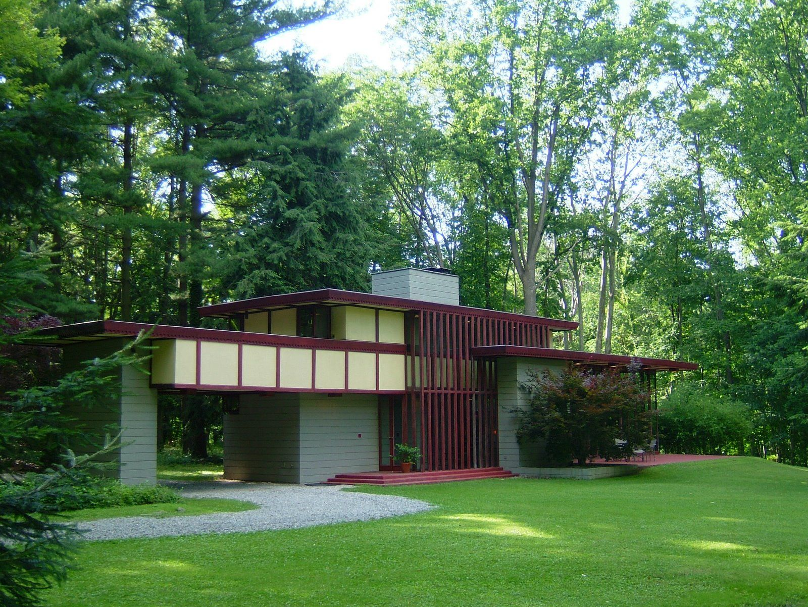 Louis Penfield House 1955 Willoughby Hills Ohio Usonian Style