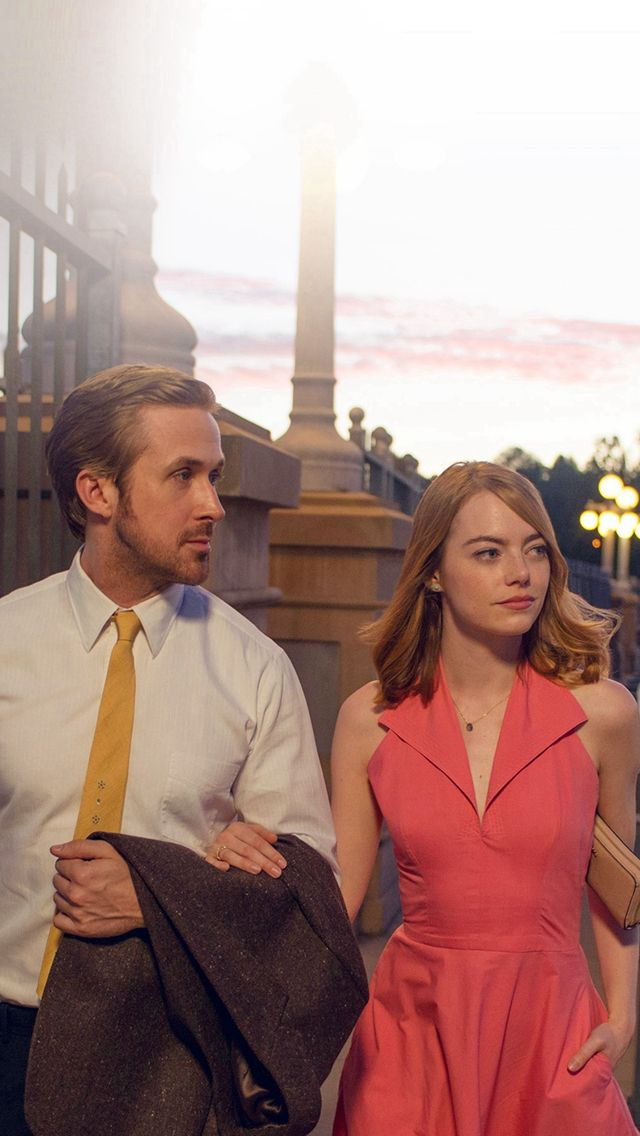 Lalaland Ryan Gosling Emma Stone Red Film Iphone Wallpapers 영화