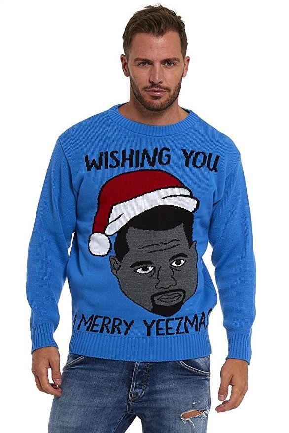 kanye west wishing you merry yeezmas unisex knit ugly christmas sweater leekez a