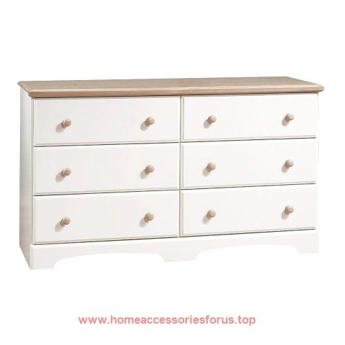 South Shore Furniture, Summertime Collection, Double Dresser, Pure White  And Natural Maple BUY