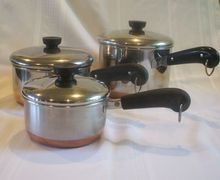 Revere Ware Copper Bottom Set 1 2 3 Qt Pans Lids Revere Ware Vintage Cookware Copper Bottom Pans