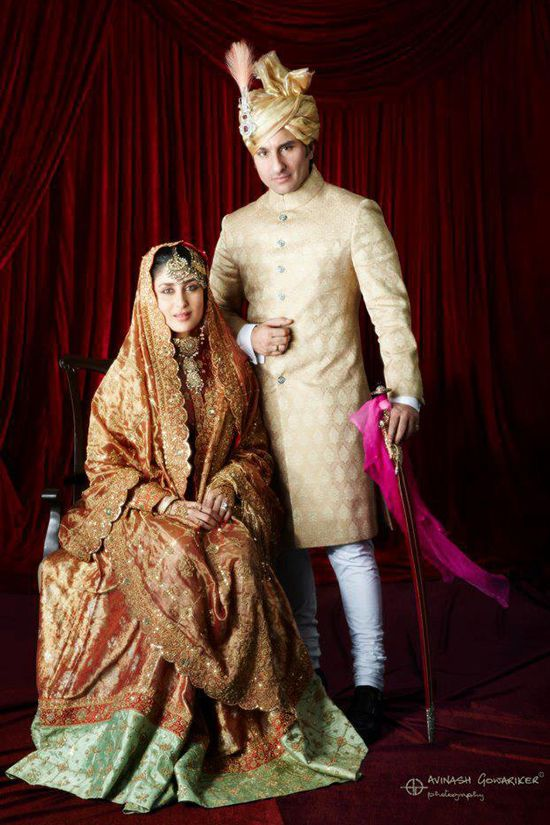 Kareena Kapoor And Saif Ali Khan Wedding Album And Reception Photos Kareena Kapoor Wedding Bollywood Bridal Celebrity Bride