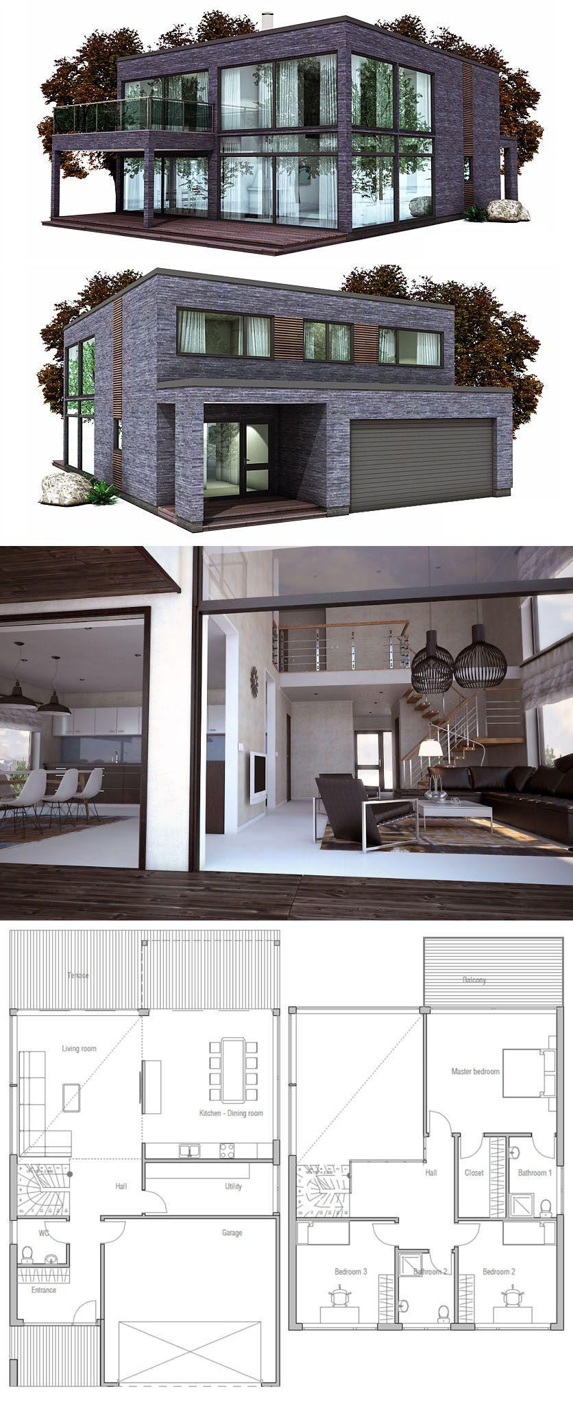 Minimalist modern house plan modular home plan prefab - Simple container house plans ...