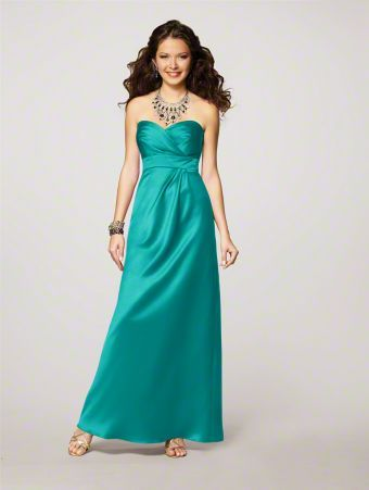 alfred angelo satin style 7132 in jade ~$115