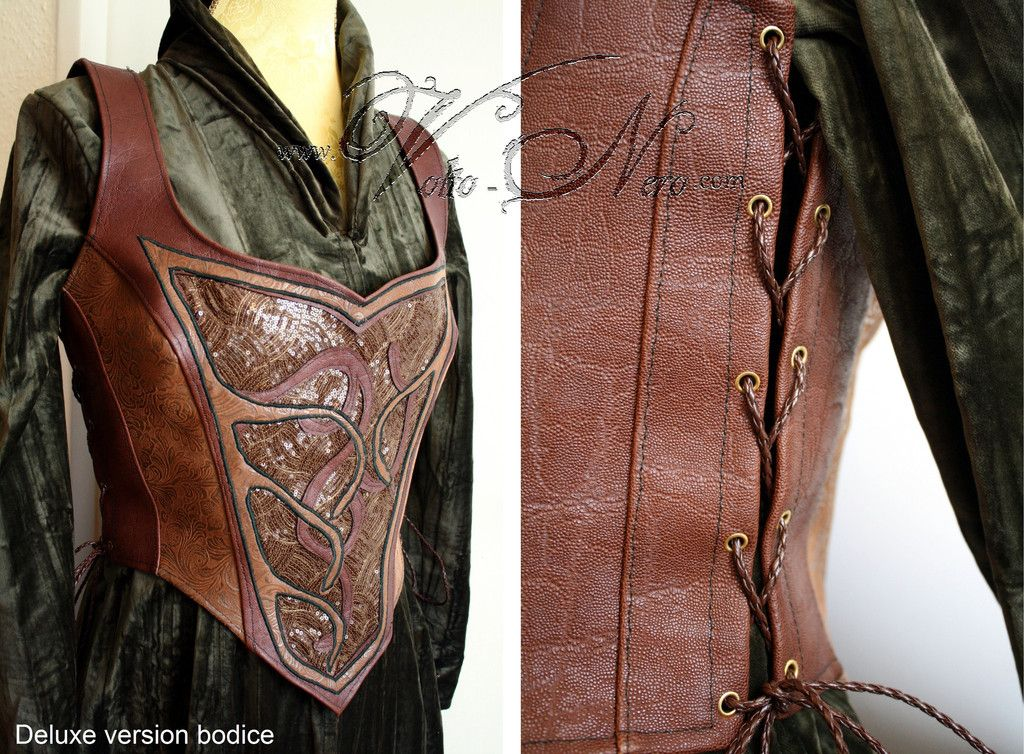 Tauriel Bodice Costume - The Hobbit Elven dress cosplay elf gown & Tauriel Bodice Costume - The Hobbit Elven Dress Lord of the Rings ...
