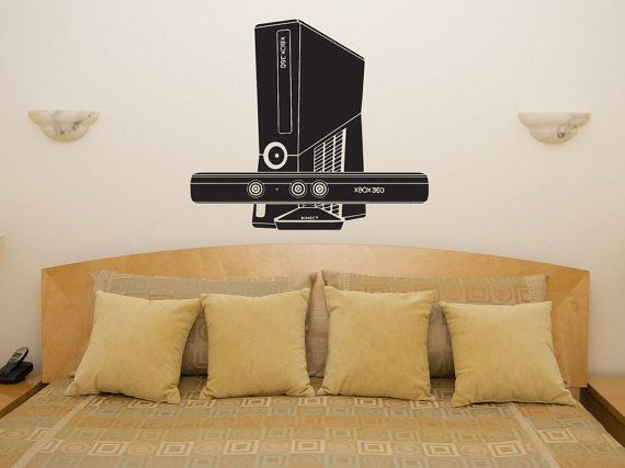 Xbox 360 Console System Unit Games Bedroom Wall Art Sticker Picture ...