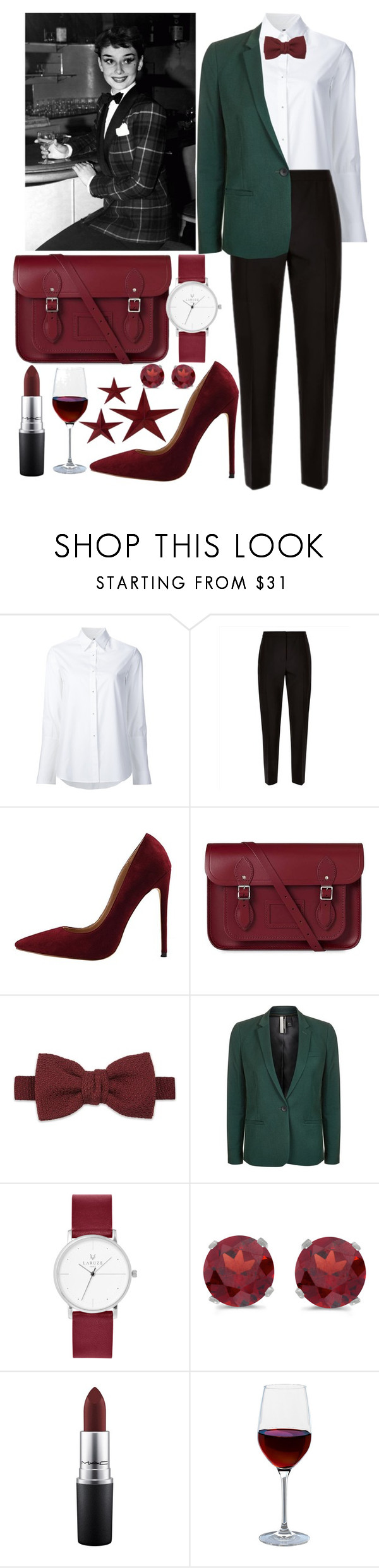 """Без названия #145"" by marcupayts ❤ liked on Polyvore featuring Misha Nonoo, Jaeger, The Cambridge Satchel Company, Lanvin, Topshop, BillyTheTree, MAC Cosmetics and Artland"