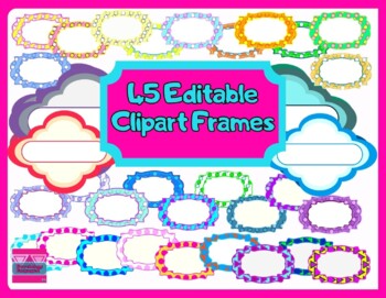 45 Editable Clipart Labels For Commercial Use