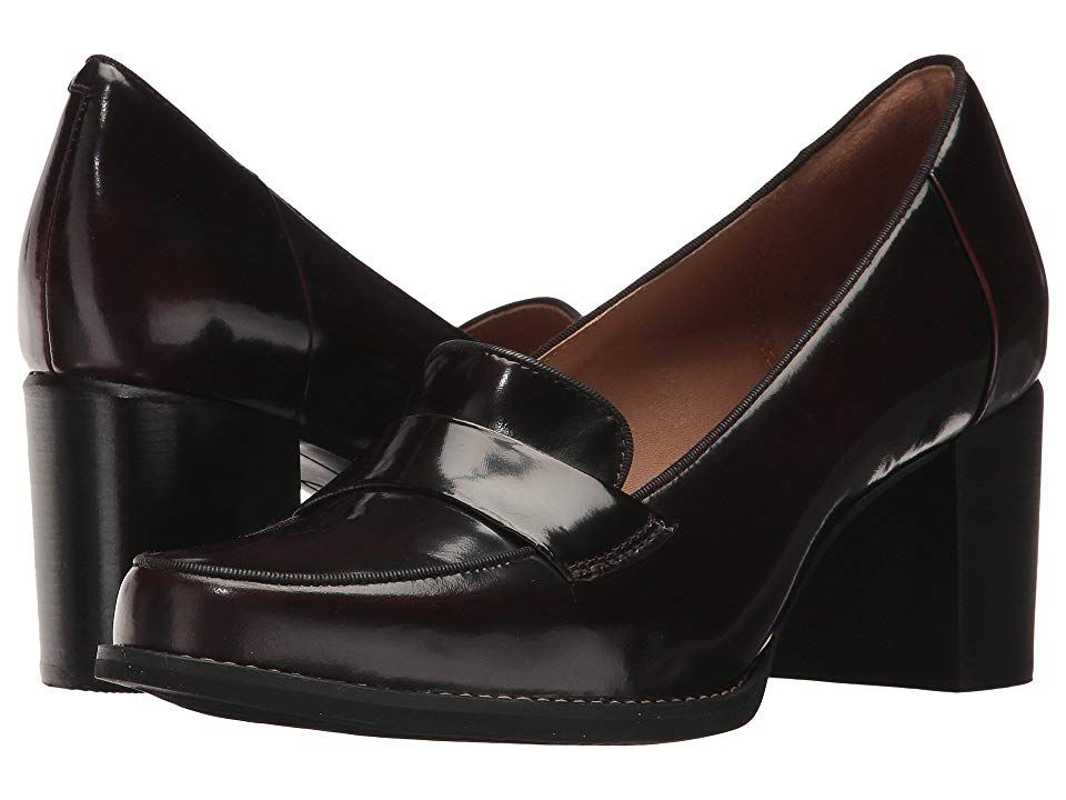 c41ef906263 Clarks Tarah Grace High Heels Burgundy Shiny Leather | Products in ...