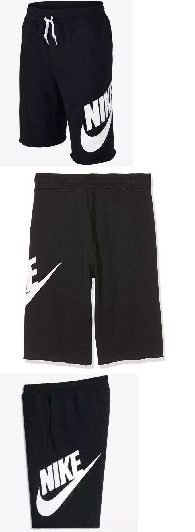 2f8881c67e Shorts 175655: Nike Big Kids Sportswear French Terry Alumni Shorts Black  728206-010 A -> BUY IT NOW ONLY: $19.99 on #eBay #shorts #sportswear #french  #terry ...